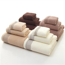 High-grade -100% cotton Towels 3Pcs Luxury Hotel & Spa Quality Bath towels Hand towel Super absorbent Water-resistant bath towel