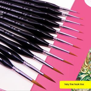 Hook-Line-Pen Oil-Brush Nail-Art Color-Stroke Fine Weasel Hair Drawing-Gouache Birch-Rod