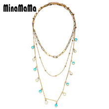Stainless Steel MultiLayer Chain Choker Necklace for Women C