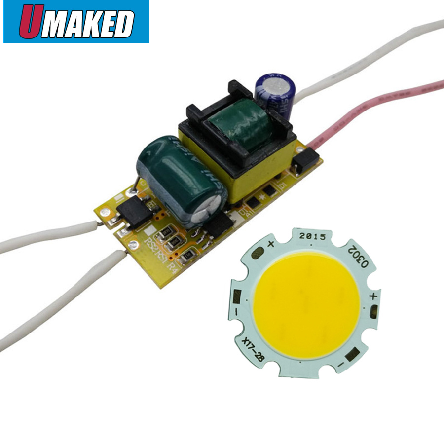 full watt 3W 5W 7W 9W <font><b>10W</b></font> 15W <font><b>20mm</b></font> high power <font><b>LED</b></font> COB lamp beads chips with <font><b>driver</b></font> for DIY tracking light,spotlight lawn image