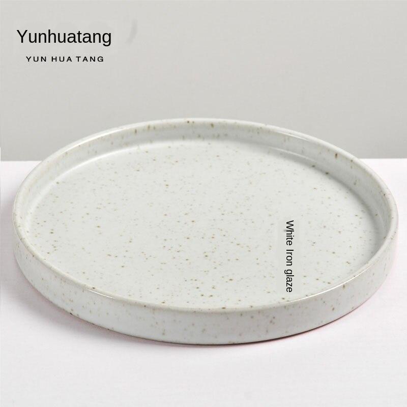 Plateau Pot céramique roulement S soucoupe à thé Hu Dian soucoupe Kung Fu thé eau disque à ampoule sèche plateau à thé Table à thé Gongfu service à thé poterie