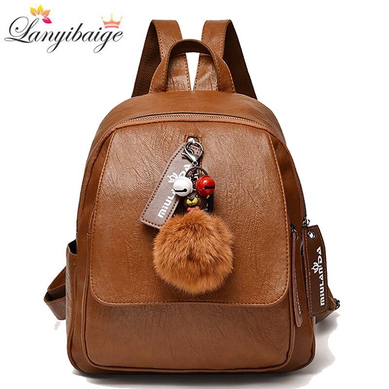2020 New Leather Backpack Women Large Capacity Travel Backpacks School Bags For Girls Casual Shoulder Bags Mochila Feminina