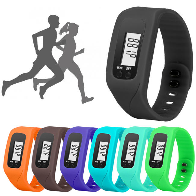 Bracelet Pedometer Watch Calorie-Counter Walking-Distance Digital Gift Run Step LCD Durable