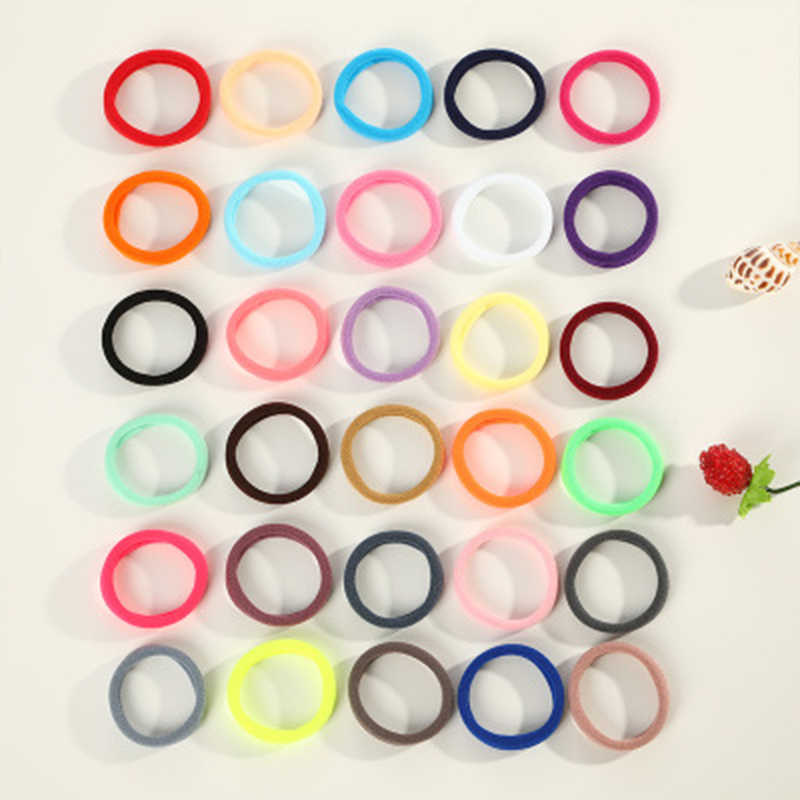 20Pcs/Set Candy Color Baby Hair Bands Lowest Price For Girls Elastic Soft Hair Ties Band Rope Ponytail Bracelet 2019 New Arrival