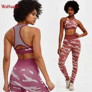 WOHUADI Bra Pants Leggings Yoga-Sets Mesh Running-Clothes Patchwork Gym Fitness Slim