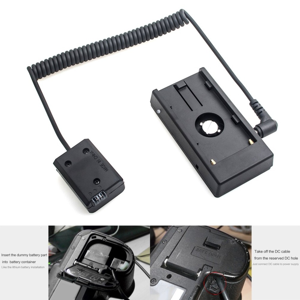 Adaptateur secteur NP-F970 à NP-FW50 adaptateur de plaque de montage de batterie factice câble d'alimentation et accessoires pour Sony