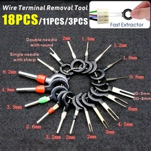 11/18pcs Car Terminal Ejector Kit Tool Wire Plug Connector Extractor Puller Release Pin Extractor Kit For CarPlug Repair Tool