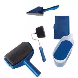 Pincel de rodillo de esponja sin costuras de pintura portátil duradero juego de cinco en uno esquina multifunción para el hogar herramientas de cepillo fáciles de operar