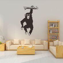 Wall Decal Gorilla Decor Sticker Black Monkey for Living Room Bedroom Background Wallpaper Vinyl wall decor