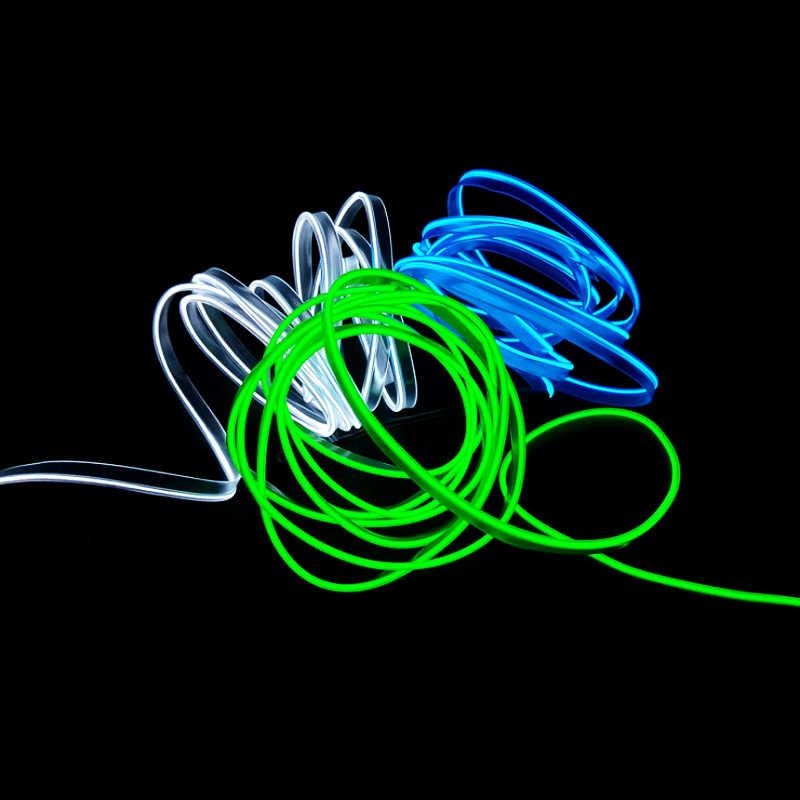 Luces flexibles para EL coche de Línea Fría de 3/5m, luces para EL coche de 12V LED neón EL cable, lámparas automáticas para EL coche, tira de luces frías, lámparas de decoración Interior