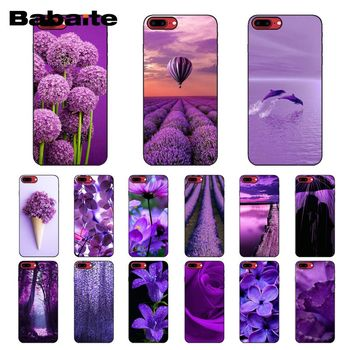 Baibaite infinity on purple Phone Case for iPhone XR 11 Pro MaxXS MAX 8 7 6 6S Plus X 5 5S SE 12 mini 12ProMax image