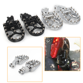 Motorcycle Wide Front Foot Pegs Footrests For Triumph Bonneville T100 T900 2001 2002 2003 2004 2005-2015 Trunxon 1200 2004-2015