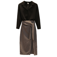 New 2019 Autumn Shirt Skirt Set Outfit Plus Size Couture Work Suit Women Office Lady Fashion Super Style Two-Piece
