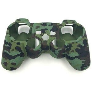 Image 5 - Камуфляжные силиконовые гелевые резиновые мягкие чехлы для контроллеров Playstation 3 PS3