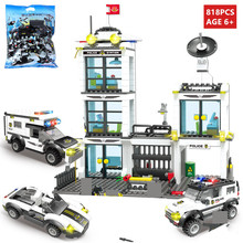 818Pcs City Police SWAT General Administration Building Blocks Sets Technic Bricks Playmobil LegoINGLs DIY Toys for Children