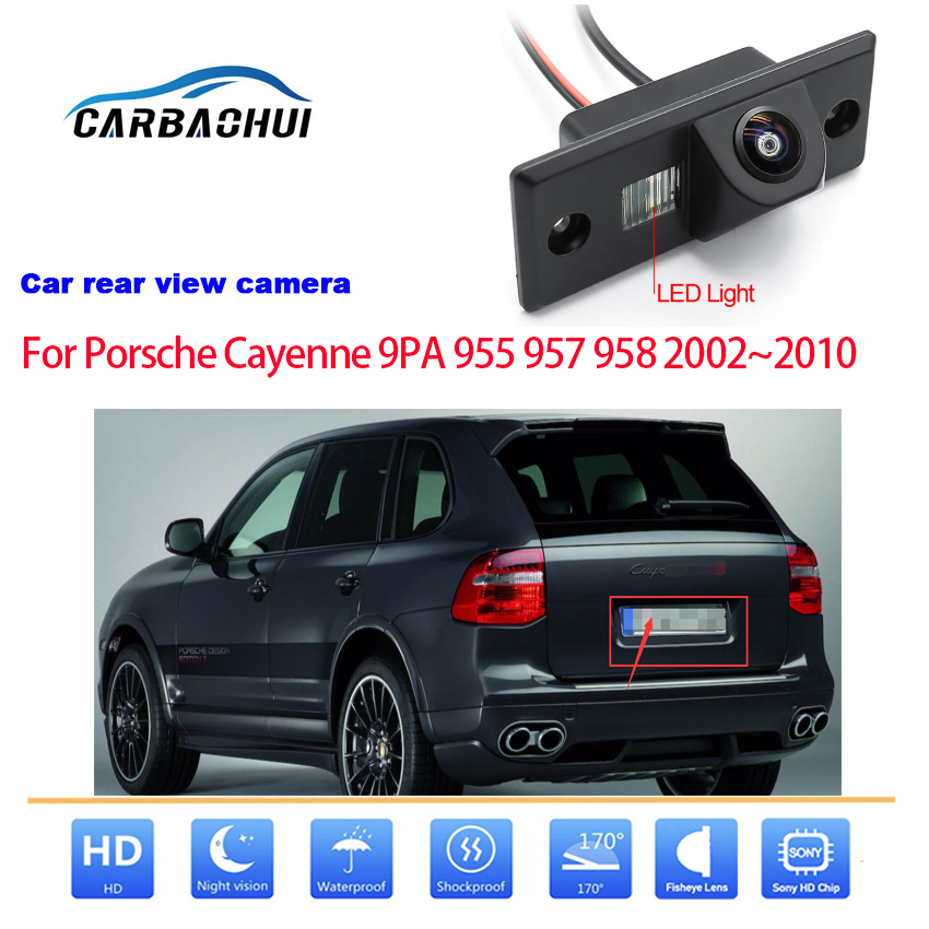 Автомобильная Беспроводная парковочная камера заднего вида HD CCD с ночным видением для Porsche Cayenne 9PA 955 957 958 2002 ~ 2010