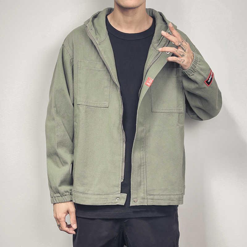 HCXY 男性のデニムジャケット日本オリジナル大型ジャケット男性