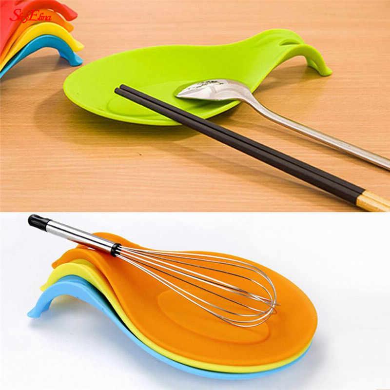 Mantel Individual resistente al calor cuchara de silicona para reposar espátula de utensilios de cocina accesorios de cocina 7zCF419