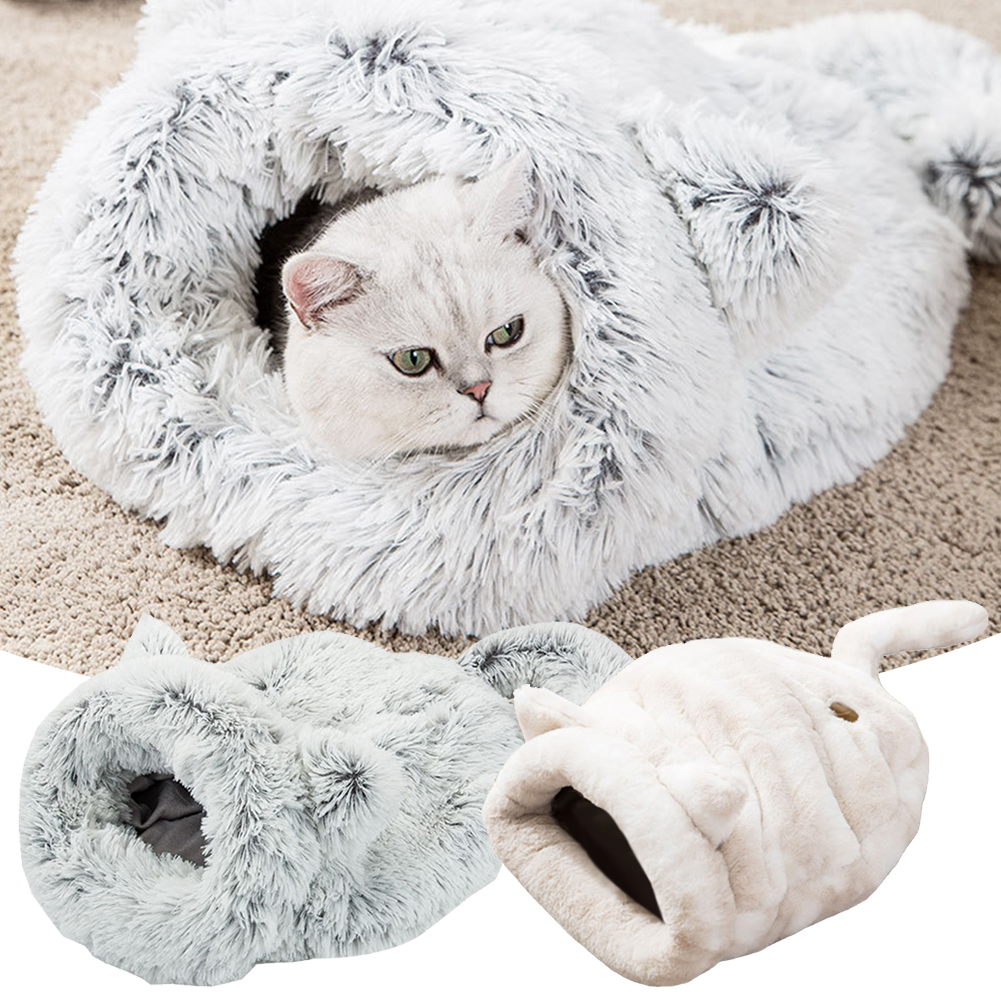1PC Funny soft Pet <font><b>Cat</b></font> <font><b>Bed</b></font> <font><b>House</b></font> Mats Deep Sleep Pet Sleeping Bag Pet Pad Kennel <font><b>Cat</b></font> Litter Warm Pet Nest cave image
