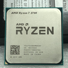AMD Ryzen 7 2700 2700 GHz, 8 cœurs, filetage sintein, 16M, 65W, YD2700BBM88AF, prise AM4, R7 3.2 processeur dunité centrale