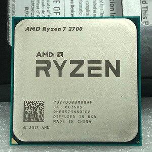 Image 1 - AMD Ryzen 7 2700 2700 GHz, 8 cœurs, filetage sintein, 16M, 65W, YD2700BBM88AF, prise AM4, R7 3.2 processeur dunité centrale
