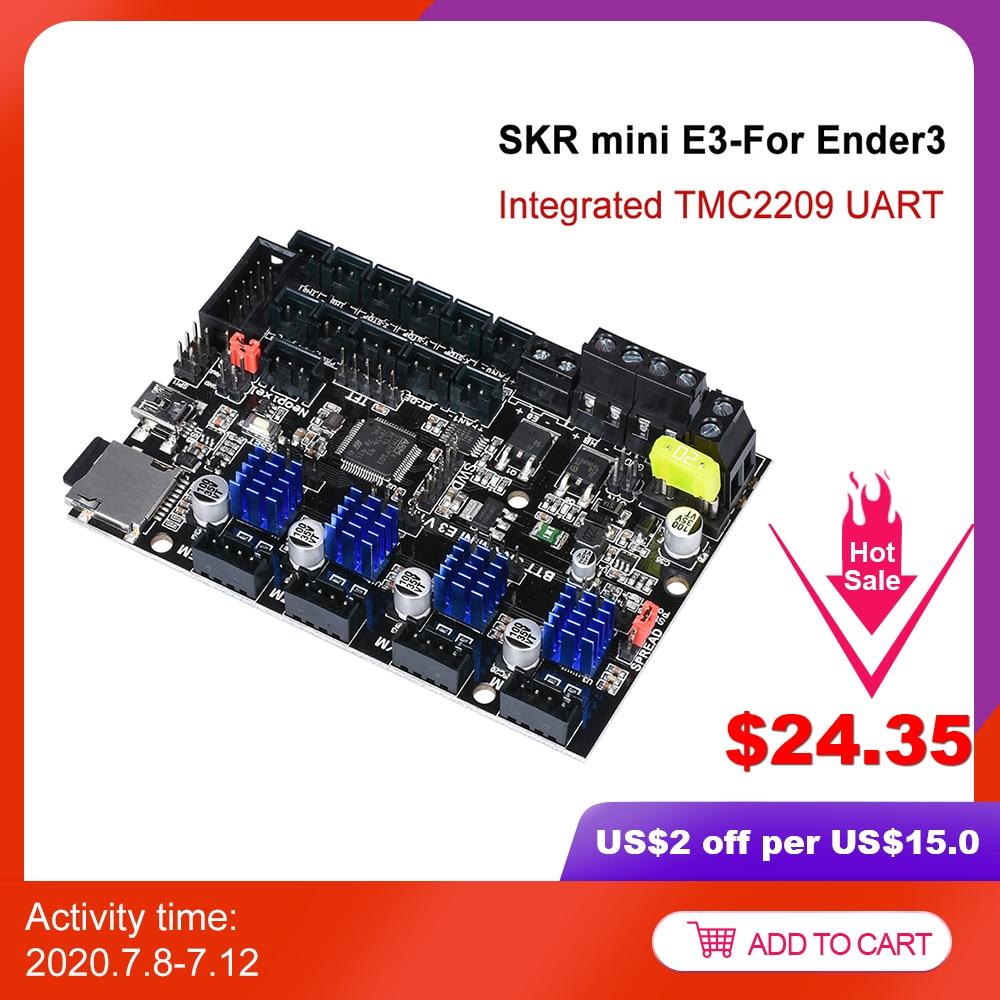 BIGTREETECH SKR mini E3 V1.2 32Bit kontrol panosu ile TMC2209 UART sürücü 3D yazıcı parçaları skr v1.3 E3 Dip Creality ender 3