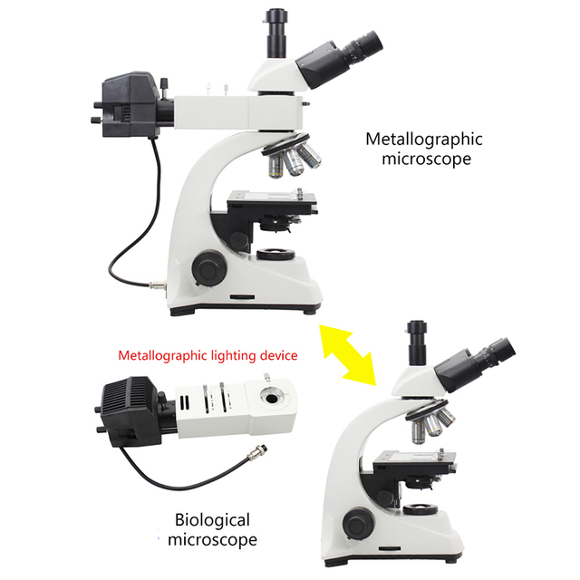 Trinocular HD Metallographic Microscope 5MP USB eyepiece Metal Mineral LCD Chip Reflected Light Stereo Biological 2 uses tanie i dobre opinie MUOU 500X-1500X OSL-528 Wysokiej Rozdzielczości Cyfrowy Mikroskop metalurgiczny Applicable to schools research factories and other