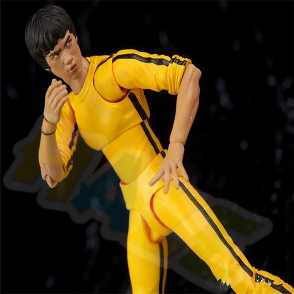 Bruce Lee The Legend Yellow Jumpsuit PVC Figure Model 15cm New