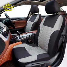 Universal Car Seat Cover Fit for 5 seats cars Grey wheel print thick polyester automotive interior for Toyota Kia Ford Lada cars(China)