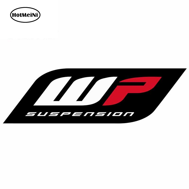 HotMeiNi 13cm X 4.1cm Car Stickers And Decals For Wp Suspension Trunk Window Bumper Motorcycle Vinyl Car Assessoires