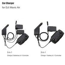 Mavic Aria Caricabatteria Da Auto Adattatore per DJI Mavic Air Remote Control & Batteria Hub di Ricarica USB Multi Caricatore Per Auto Batteria
