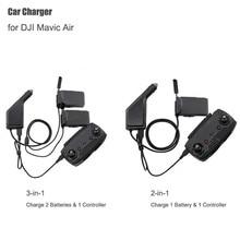 Mavic hava araba şarjı adaptörü DJI Mavic hava için uzaktan kumanda ve pil şarj göbeği USB çoklu akülü araba araba şarjı