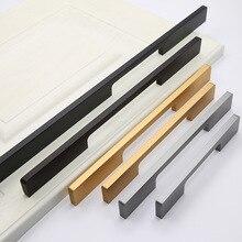 Дверца шкафа Удлиненная ручка u-образная немая черно-белая с узором ручка шкаф современный минималистичный алюминиевый сплав твердый