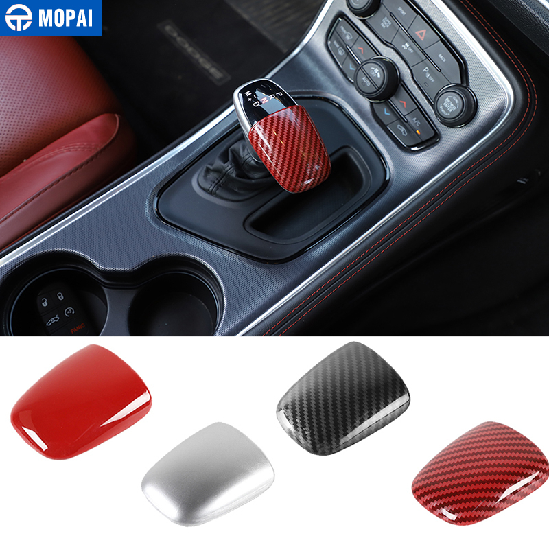 MOPAI ABS Car Gear Shift Knob Head Decoration Cover Stickers Accessories For Dodge Challenger 2015+ For Dodge Charger 2015+