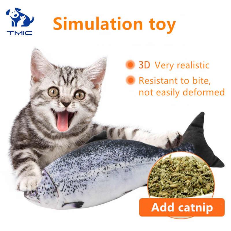 Di alta Qualità 3D Forma di Pesce Gatto Giocattolo interattivo Peluche Cane Creativo Giocattoli Regali Gatto nip Bambola di Pesce di Pesce Simulazione di Gioco giocattolo dell'animale domestico