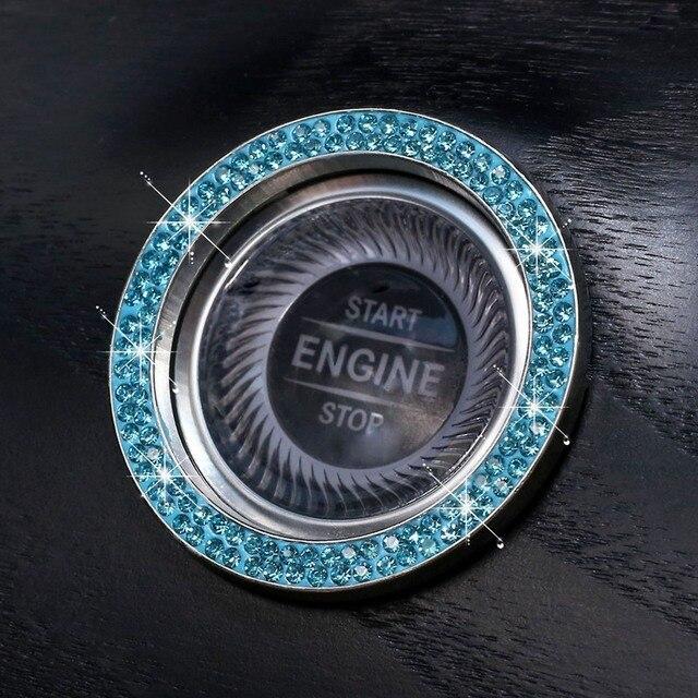 автомобильные однокнопочные кнопки запуска и остановки двигателя фотография