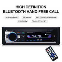 TOSPRA Car Multimedia Player Bluetooth Autoradio MP3 Player Car Stereo Radio FM Aux Input Receiver USB JSD-520 12V In-dash 1 din