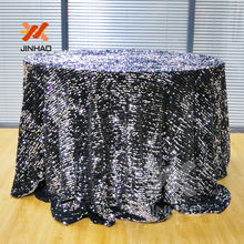 100% Flannelette Of High Quality 120 Round Sequin Tablecloth For Wedding