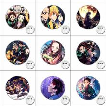 anime Demon Slayer Cosplay Badge Cartoon Brooch Pins Icons Badge Decoration Badges Button Clothes Accessories 1pcs