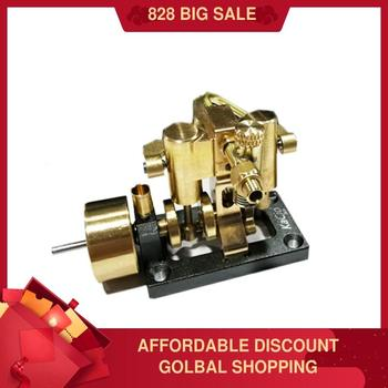 Mini Inline Double Cylinder Steam Engine Model 2020 New Retro Model dla64 inline cnc processed inline gasoline engine petrol engine 64cc for gas airplane with double cylinders