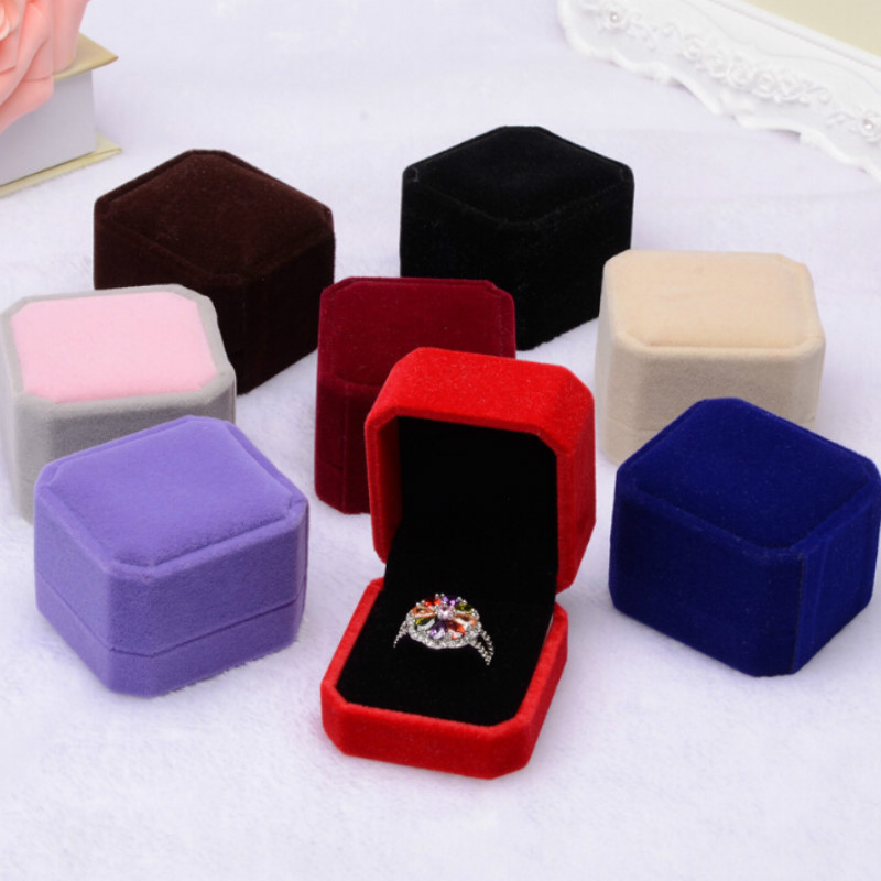 Flannelette Ring BoxGift for Jewellery Square Jewelry Boxes and Packaging Jewerly Packaging 1
