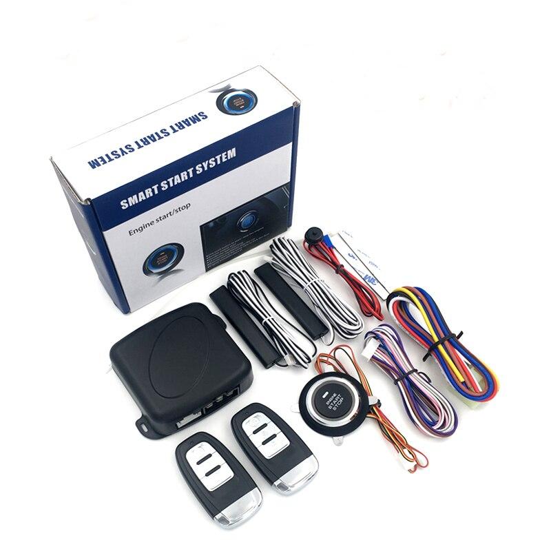 12V Car Remote Control Kit Push Button Start-up Car Alarm Ignition Start Security System Key Engine Start Push Button Remote Kit