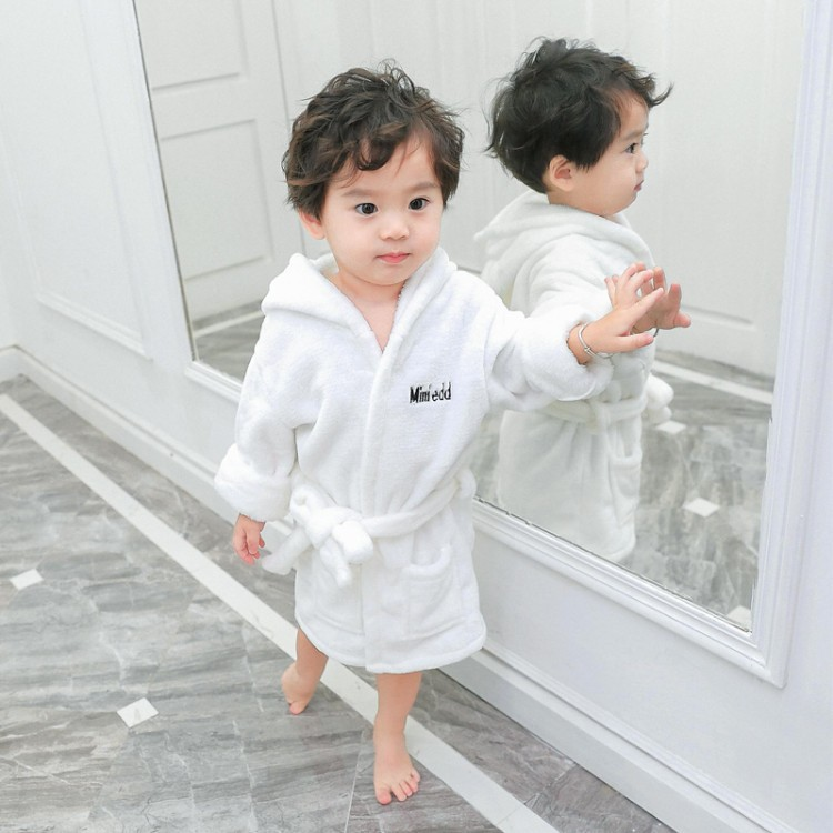 Hot Selling Autumn New Products Children Solid Color Bathrobe Flannel South Korea Childrenswear Children Cotton Tracksuit