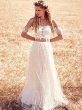 2 предмета свадебное платье в стиле бохо богемное с открытыми