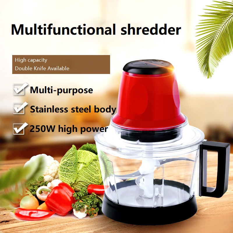 2.8L Powerful Electric Meat Grinder Vegetable Fruit Blender Shredder Stainless Steel Kitchen Mixer Tools Electric Food Processor