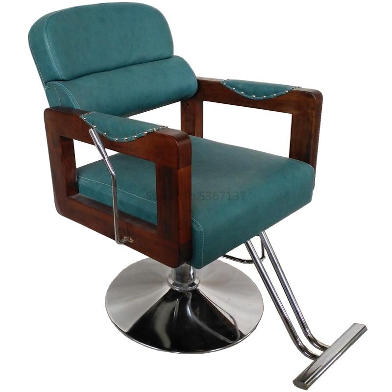 Barber Shop Chair Hair Salon Dedicated Can Be Put Down Simple Modern Lift Rotating Down The Beauty Salon Chair