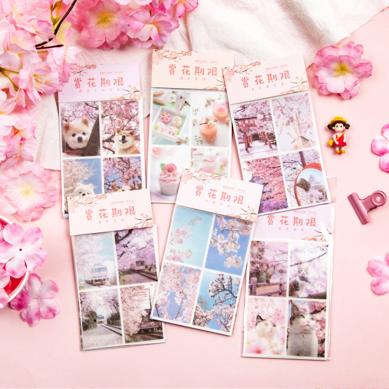 Enjoy Flowers 5Pcs \DIY CreativePersonality Sticker Magazine Album Diary Calendar Scrapbook Student Stationery Office Supplies