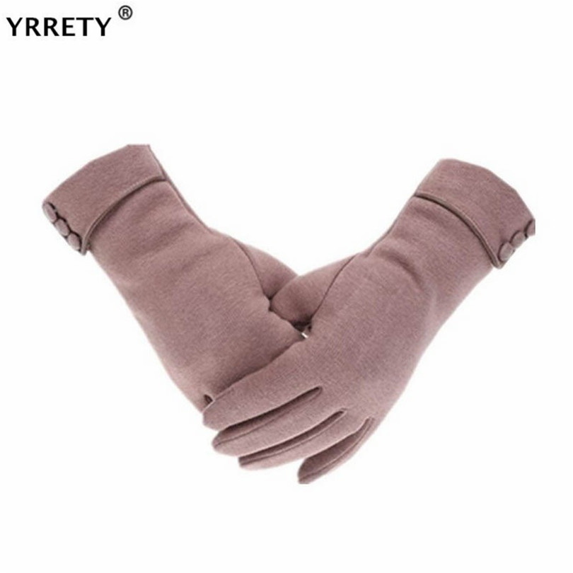 YRRETY Elegant Plush Women Screen Sensory Gloves Autumn Winter Cashmere For Fitness Female Wrist Mittens Driving Glove 2020