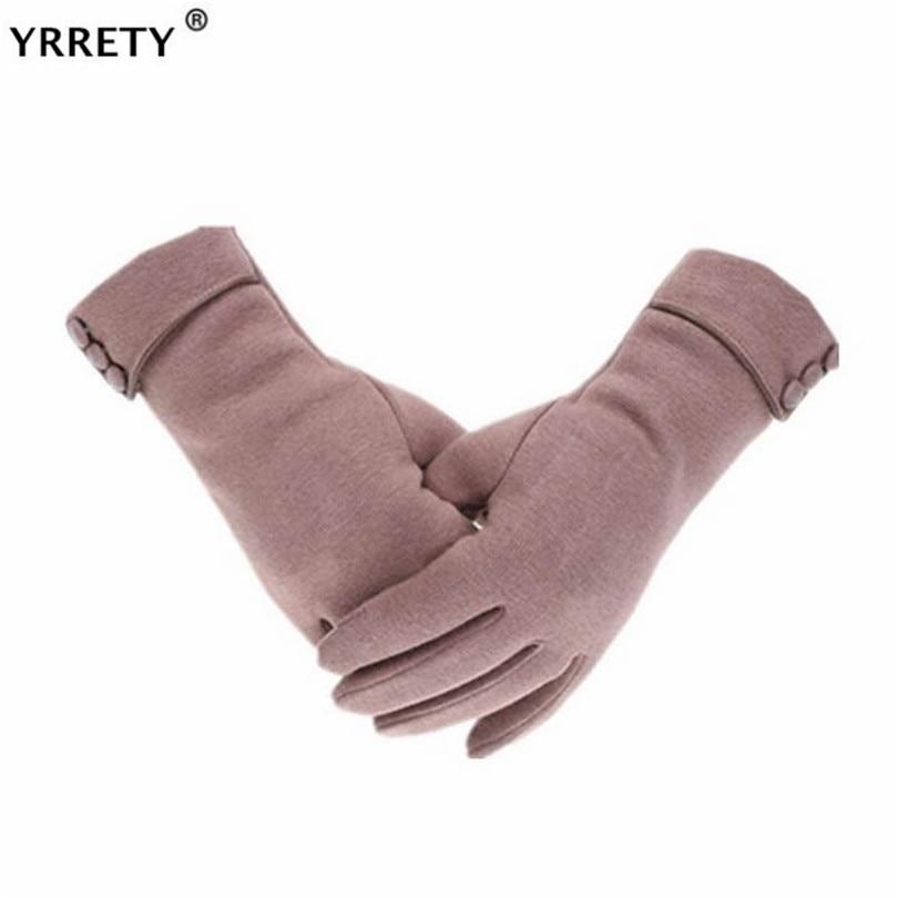 YRRETY Elegant Plush Women Screen Sensory Gloves Autumn Winter Cashmere For Fitness Female Wrist Mittens Driving Glove 2020
