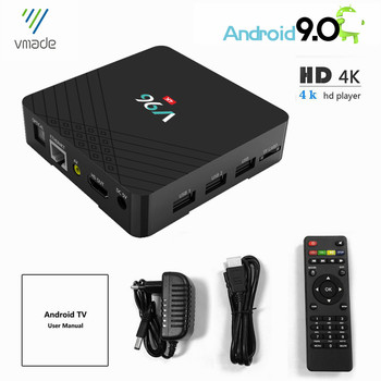 Vmade Original Mini TV Box Allwinner H6 Quad Core Android 9.0 Ultra HD 4K H.265 2G 16GB WIFI Google TV Netflix IPTV Set-Top Box